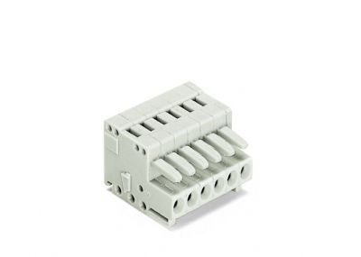 1-conductor female plug100% protected against mismating, light gray